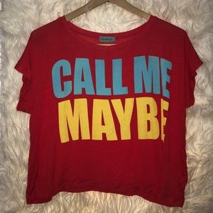 NWT Workshop red crop top shirt size XS